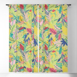 Fruit Tea Florals - Kiwi Blackout Curtain