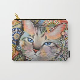Aslan ... Abstract cat art painting, by Amy Giacomelli Carry-All Pouch