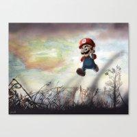 super mario Canvas Prints featuring Super Mario by JLEEORIGINALS