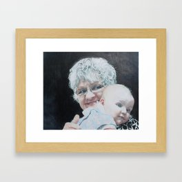 Baby and Me Framed Art Print