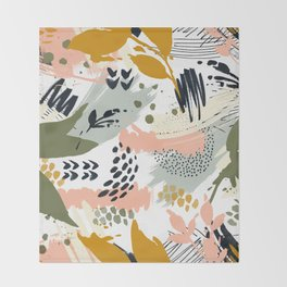 Abstract strokes still life Throw Blanket