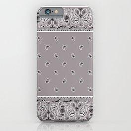 Classic Gray Bandana iPhone Case