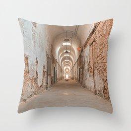 Prison Corridor Throw Pillow