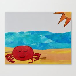 Beachy crab Canvas Print