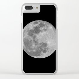 SNOW MOON Clear iPhone Case