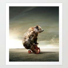 Happy Bear Art Print