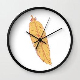 Sea Eagle Head Inside Feather Drawing Wall Clock