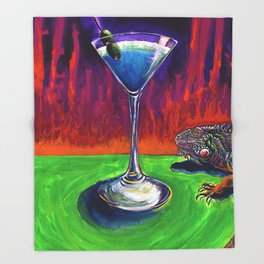 Iguana Spit Martini Throw Blanket