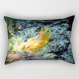 Bullfrog In The Swamp Rectangular Pillow