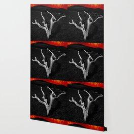 Lava Drift Wood Wallpaper