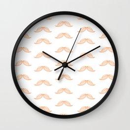 Mustache Pattern Wall Clock