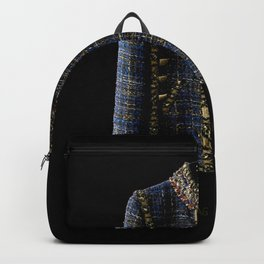 coco vintage blue and gold jacket Backpack