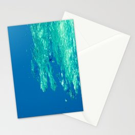 Waves under the water Stationery Cards