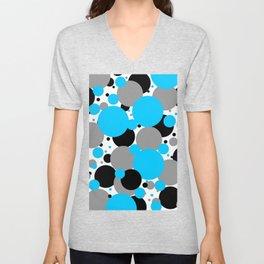 Blue Polka Dots Unisex V-Neck