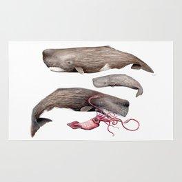 Sperm whale family Rug