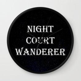 Night Court Wanderer Wall Clock
