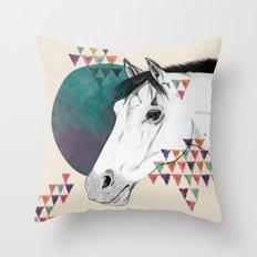 My pony is'nt an unicorn Throw Pillow