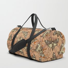 Death's-head hawkmoth rust Duffle Bag