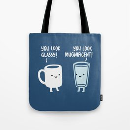Mug and Glass Tote Bag