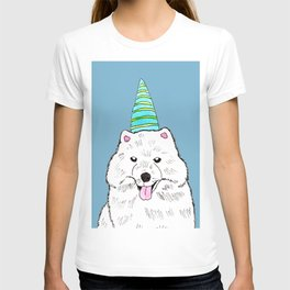 Samoyed with Party Hat T-shirt