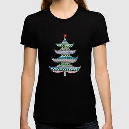 Christmas tree stripe T-shirt