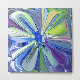 Abstract Flower Multi-coloured 860 Metal Print