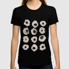poppy Black Womens Fitted Tee SMALL