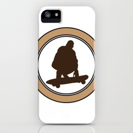 Skateboard Kick Flip Silhouet Skateboarder iPhone Case