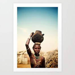 omo valley tribal woman  Art Print