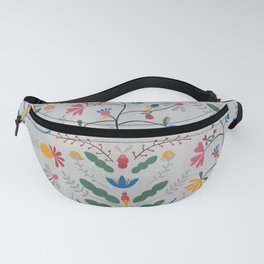 Kurbits – Blue Bell – Scandinavian Folk Art Fanny Pack