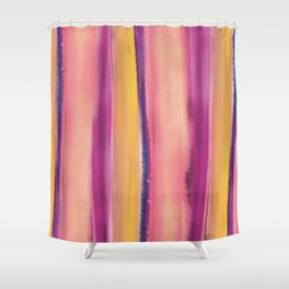 watercolor stripe Shower Curtain