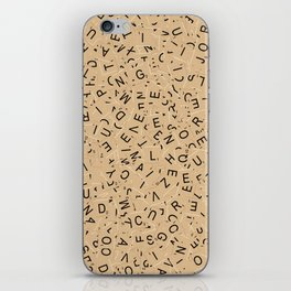 Scrabble Letters iPhone Skin