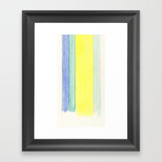 Stripes in Watercolor Framed Art Print