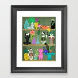 Flowers and Goddesses Shelf Framed Art Print