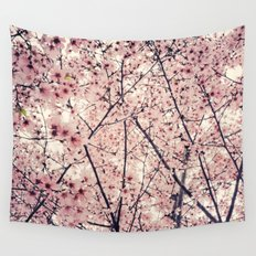 Blizzard of Blossoms Wall Tapestry