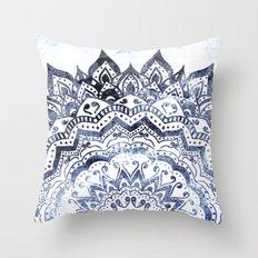 BLUE ORION JEWEL MANDALA Throw Pillow