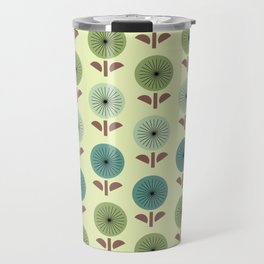 Atomic Age Flower Pattern 1 Travel Mug