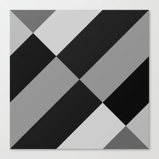 Angled Black and Gray Gradient Canvas Print
