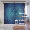 Deep blue glass mosaic by danadudesign