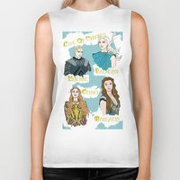 daenerys Biker Tanks featuring Game Of Thrones  by JessicaJaneIllustration