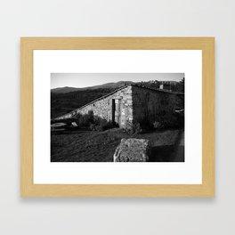 tuscany b&w Framed Art Print