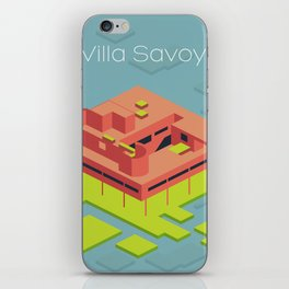 Villa Savoye and Le Corbusier iPhone Skin