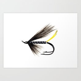 Stoat's Tail Fishing Fly Art Print