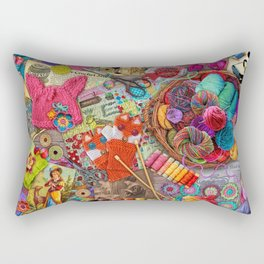 Vintage Yarn & Thread Rectangular Pillow