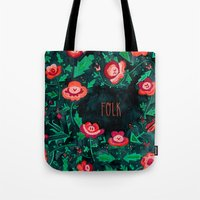 folk Tote Bags featuring Folk by Plantus Marina