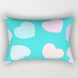 vibrant pastel hearts Rectangular Pillow