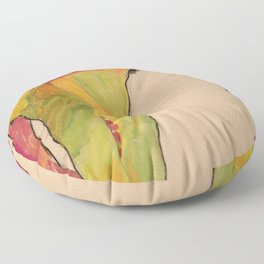 "Egon Schiele ""Male Nude, Propping Himself Up"" Floor Pillow"