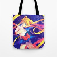 sailor moon Tote Bags featuring Sailor Moon by Ginilla