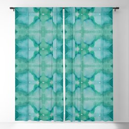 Mirrored Shades of Green Blackout Curtain