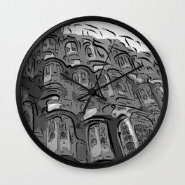 Lonley Planet Faces Wall Clock